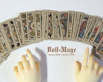 Antique Style Tarot Cards (complete deck) for SD BJD