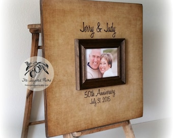Parents 50th Anniversary Party, Guest Book, Alternative Guest Book, Anniversary Gift for Parents, 20x20 The Sugared Plums Frames