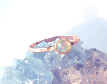 Gold opal ring Etsy