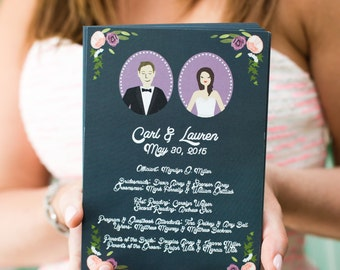 Illustration co visit chicks n hens by chicksnhens wedding programs wedding invitation add on custom illustrated design fee stopboris Choice Image