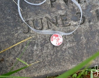 Juniper (June) Moon Pendant Necklace