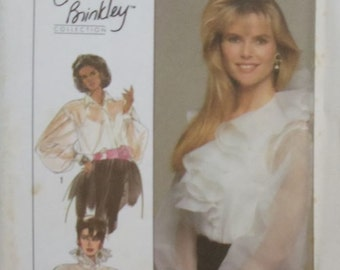 """UNCUT Vintage Simplicity (Christie Brinkley)  #8903 Size 12 Misses's Blouse and Camisole  Breast 34"""" / Waist 26 and 1/2"""" / Hips 36"""""""