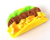 felt food taco set eco friendly kids felt play food for children's toy kitchen pretend play