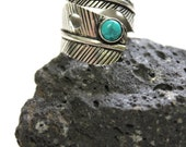Indian Silver plated Feather shape adjustable Ring Bohemian Gypsy Tribal special addition
