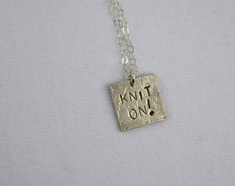 Knit On Sterling Silver Necklace knitpurletc