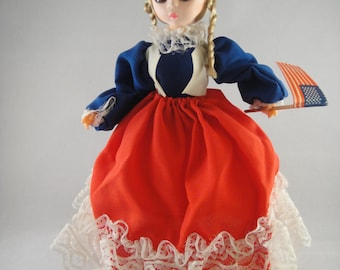 Bradley Dolls Miss July Patriotic Big Eye Doll