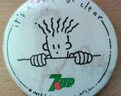 Vintage 80's 7 up Fido Dido Big Button