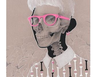 Hipster Bones - Glicee Print