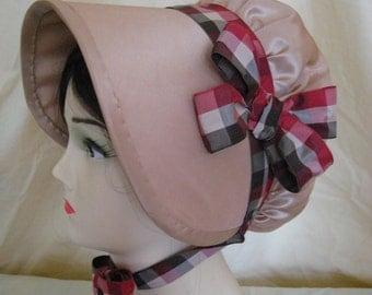 CUSTOM Regency Bonnet. Jane Austen. 'ELINOR' Your choice of colour/fabric/trims.