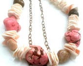 Chunky Necklace Stone Shell Trending Now Chunky Statement Necklace Island Jewelry