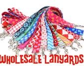 LANYARD- Badge ID Holder. Fabric Neck Key Chain- WHOLESALE Set of 20