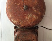 Large Cast Iron School Bell, Vintage Industrial Wall Art, Antique Wall Decor, Architectural Salvage, Cast Iron, Industrial Decor
