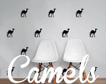 Camels Wall Decal Pack, Animals Vinyl Wall Sticker Decal Art Pattern WAL-2198