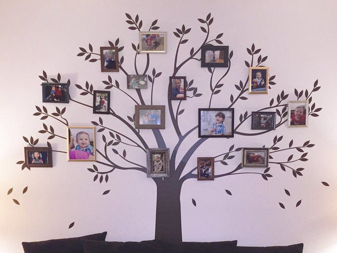 Family Tree Wall Decal Picture Frame Wall Decal by DecalLab