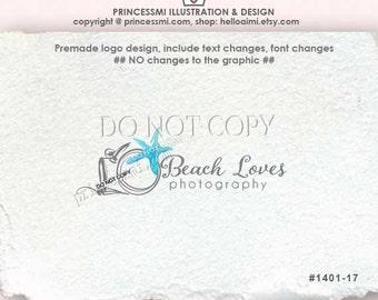 1401-17 sea star logo, starfish logo, photography logo, Premade Logo Design / custom logo design  / camera logo business logo by princessmi