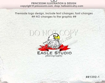 1392-1 Eagle Logo  / Custom eagle logo, Premade Eagle Logo Design bird logo template photography logo boutique logo by princessmi