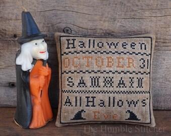 Halloween Sampler...Primitive Cross Stitch Pattern By The Humble Stitcher