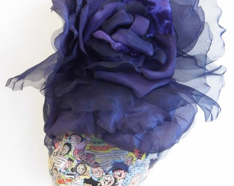 SALE Extra Large Rose -  Dark purple WAS 50.00 NOW 40.00