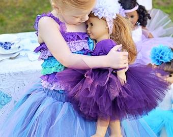 """18"""" dolly tutu - doll tutu- american girl tutu - SEWN tutu - mommy and dolly tutu - dolly and me tutu - full length tutu  made to match tutu"""