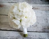 White Peony Wedding Bouquet - Peony Wedding Bouquet