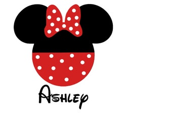 Personalized Minnie Iron On Vinyl Decal