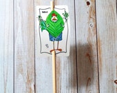 Garden Sign Mint Metal Sign on Bamboo Stake UV Protected Against Fading 2x3 sign 12 inch stake Customizable
