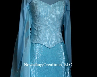 Snow Queen Elsa Costume