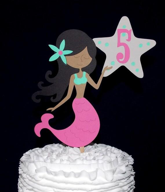 Mermaid Birthday Cake Topper Little Mermaid Cake Decoration Smash