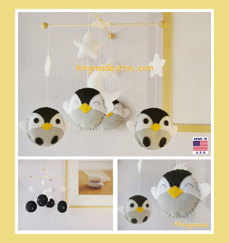 Penguin Mobile Baby Mobile Baby Crib Mobile Antarctic By
