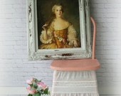F R E N C H, Framed portrait of Marie Antoniette Shabby Chic Mirror, Cottage Nursery, Vanity,