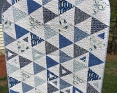 Seaside Blue and White Quilt