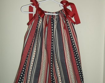 Girl's Patriotic Pillowcase Dress *Free Shipping*
