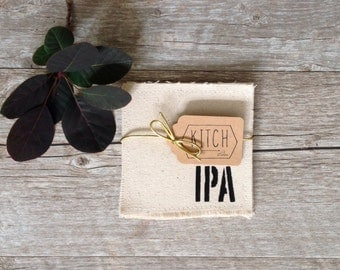 Drink Coaster Beer Coaster Set Groomsmen Gifts Craft Beer Coasters Fathers Day Gift Dad Modern Rustic Wedding Gift Party Housewarming