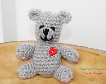Crochet Teddy Bear, Teddy Bear Toy, Newborn Photo Prop, Baby Photo Prop, Brown Bear, Gray Bear, Pink Bear, Blue Bear, Newborn Teddy Bear