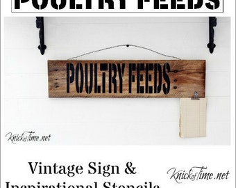 Farmhouse Feed Store Sign Stencil