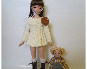 Knitted cream dress for MSD