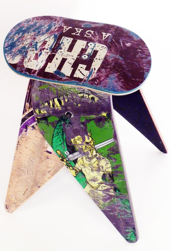 Recycled Skateboard Stool By Deckstool By