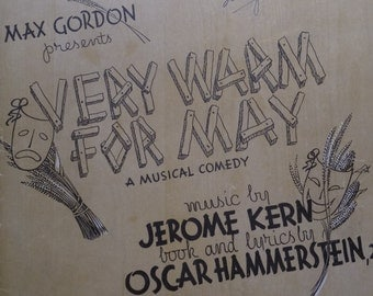 1940 All The Things You Are Jerome Kern Oscar Hammerstein II Song Book Sheet Music