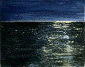 Moon Dance print of watercolor by Mary Blocksma 8x10 Mat
