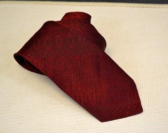 1970s Beau Brummell Mr. Wonderful Red Necktie