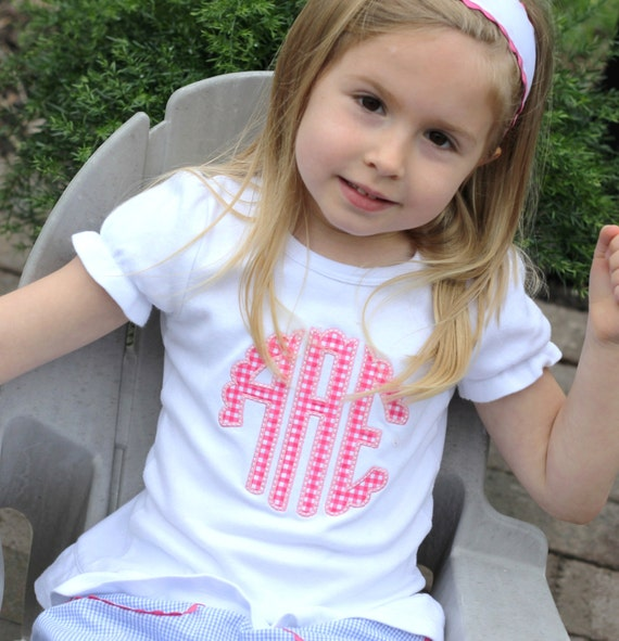 Scallop Monogrammed Shirt for Girls