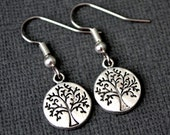 Silver Trees Of Life . Earrings