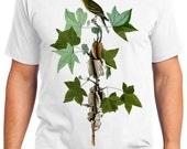 Traills Flycatcher Bird Retro Men & Ladies T-shirt - Gift for Bird Lovers and Ornithologist (idc045)