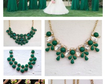 Bridesmaid Jewelry, Green Wedding Jewelry, Bridesmaid Jewelry Gift, Bridesmaid Necklaces, Wedding, JCrew wedding, Jcrew, Bridesmaid Earrings