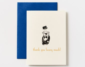 Thank You Beary Much Greeting Cards - Set of 5