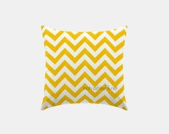 Square Pillow Cover - Corn Yellow Chevron - Hayden, Reese - S1