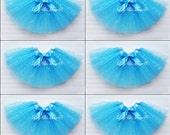 6 Cinderella party, party favor tutus, new Cinderella party tutus, 2015 Cinderella party tutus, blue princess tutu, frozen party favor tutu