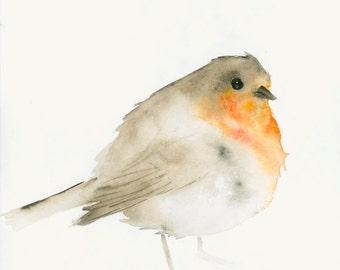 Original Watercolor Painting Robin