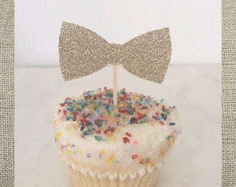 Bowtie Cupcake Topper // Party Pick (Set of 12)