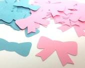 Gender Reveal Confetti - Bow Confetti - Bowties Confetti - Bow Gender Reveal - Bowtie Gender Reveal - Pink Confetti - Blue Confetti